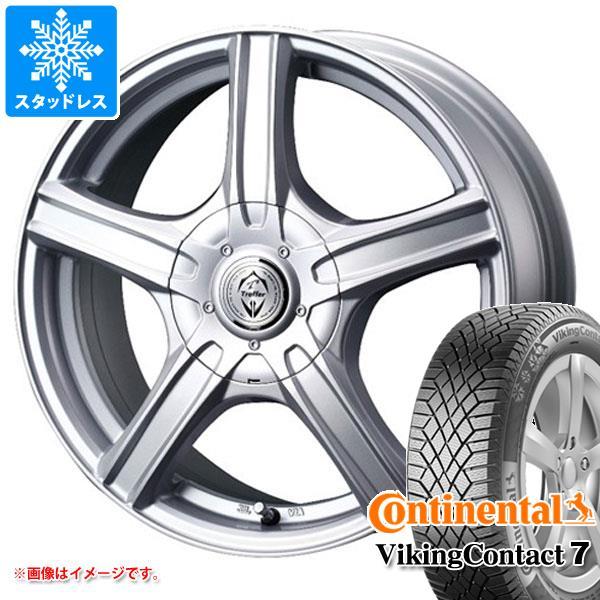 スタッドレスタイヤ コンチネンタル バイキングコンタクト7 205/65R15 99T XL & トレファー MH 6.0-15 タイヤホイール4本セット 205/65-15 CONTINENTAL VikingContact 7