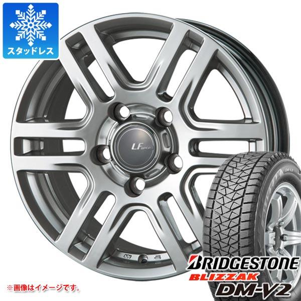 LX570専用 スタッドレス ブリヂストン ブリザック DM-V2 285/60R18 116Q ラ・ストラーダ LFスポーツ SUV タイヤホイール4本セット