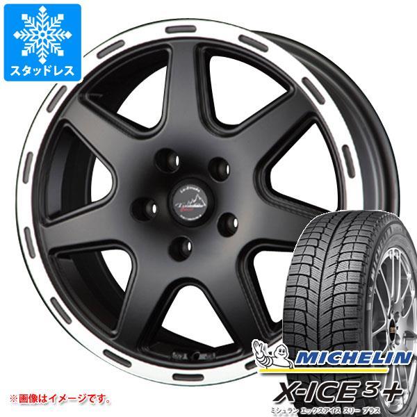 スタッドレスタイヤ ミシュラン エックスアイス3プラス 215/65R16 102T XL & ティラード クロス ブラック レネゲード専用 6.5-16 タイヤホイール4本セット 215/65-16 MICHELIN X-ICE3+