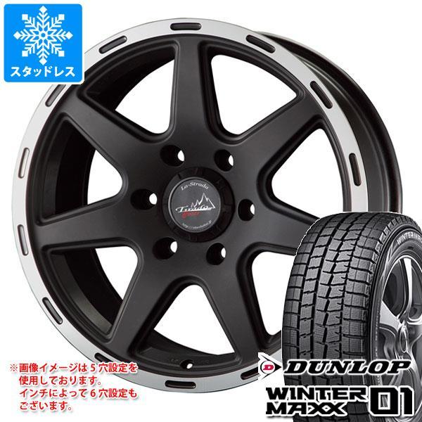 スタッドレスタイヤ ダンロップ ウインターマックス01 WM01 215/60R16 95Q & ティラード クロス ブラック 7.0-16 タイヤホイール4本セット 215/60-16 DUNLOP WINTER MAXX 01 WM01