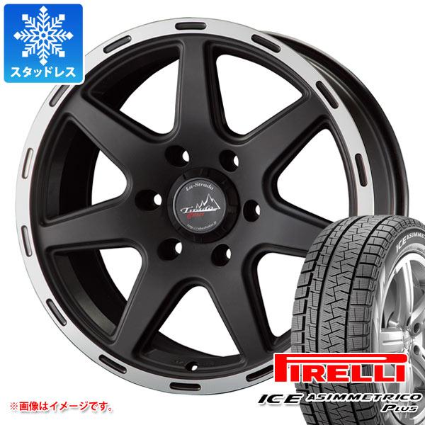 スタッドレスタイヤ ピレリ アイスアシンメトリコ プラス 215/65R16 98Q & ティラード クロス ブラック 7.0-16 タイヤホイール4本セット 215/65-16 PIRELLI ICE ASIMMETRICO PLUS
