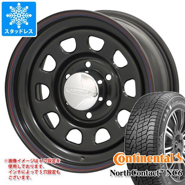 スタッドレスタイヤ コンチネンタル ノースコンタクト NC6 215/65R16 102T XL & デイトナズ ブラック 7.0-16 タイヤホイール4本セット 215/65-16 CONTINENTAL NorthContact NC6