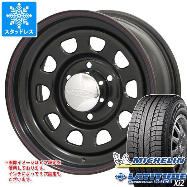 スタッドレスタイヤ ミシュラン ラティチュード エックスアイス XI2 215/70R16 100T & デイトナズ ブラック 7.0-16 タイヤホイール4本セット 215/70-16 MICHELIN LATITUDE X-ICE XI2