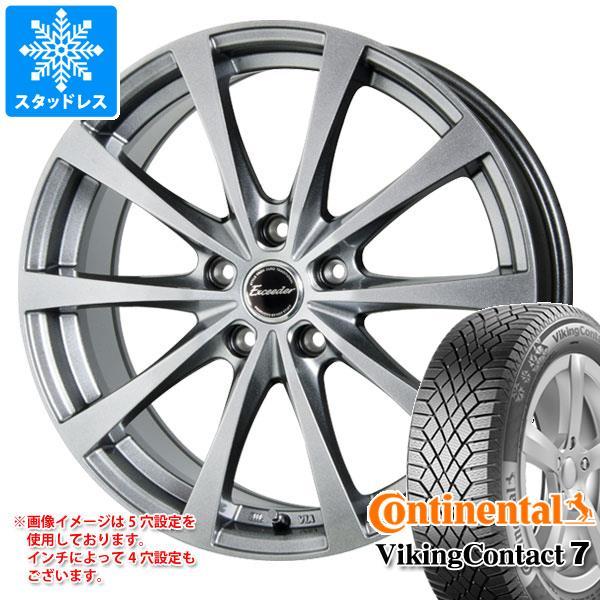 スタッドレスタイヤ コンチネンタル バイキングコンタクト7 185/55R15 86T XL & エクシーダー E03 5.5-15 タイヤホイール4本セット 185/55-15 CONTINENTAL VikingContact 7