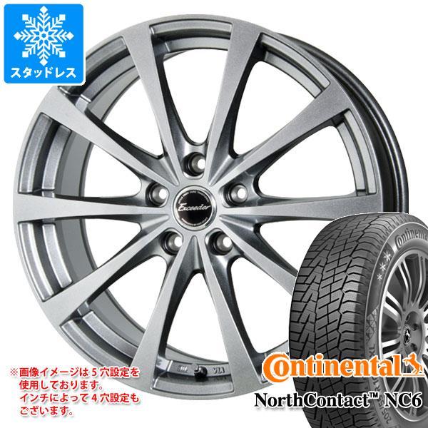スタッドレスタイヤ コンチネンタル ノースコンタクト NC6 245/45R18 100T XL & エクシーダー E03 7.5-18 タイヤホイール4本セット 245/45-18 CONTINENTAL NorthContact NC6