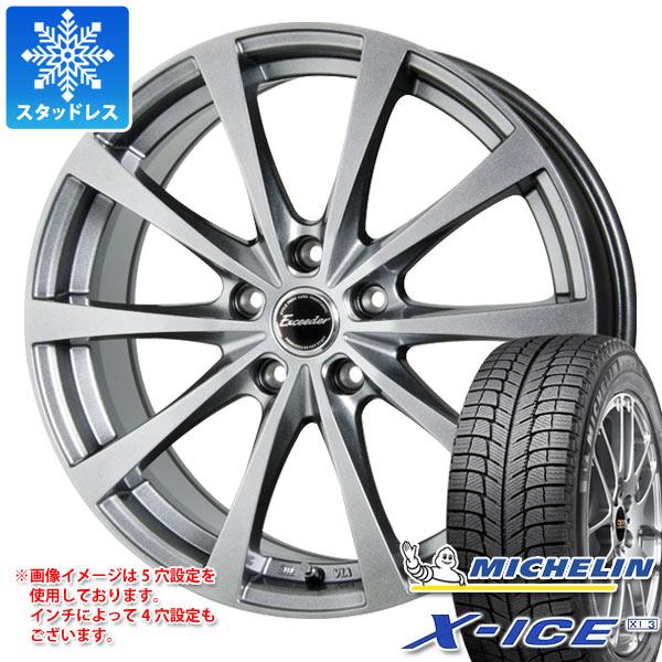 スタッドレスタイヤ ミシュラン エックスアイス XI3 185/55R15 86H XL & エクシーダー E03 5.5-15 タイヤホイール4本セット 185/55-15 MICHELIN X-ICE XI3
