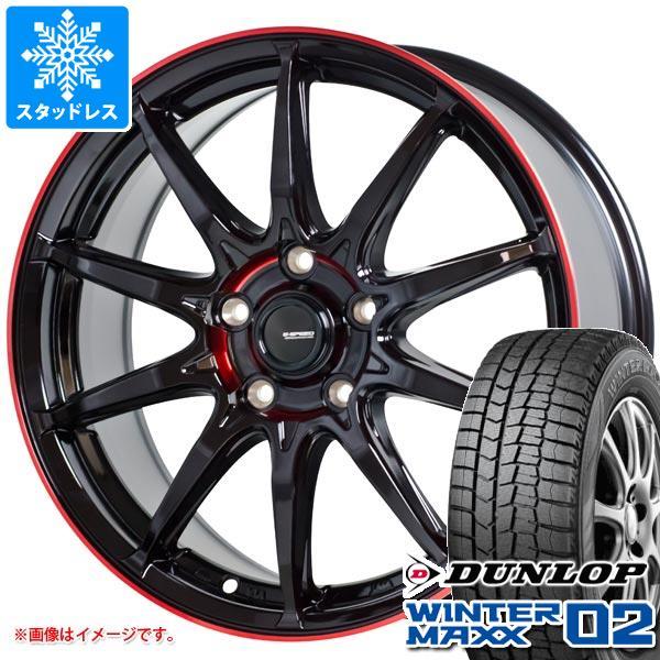 スタッドレスタイヤ ダンロップ ウインターマックス02 WM02 165/55R15 75Q & ジースピード P-05R 4.5-15 タイヤホイール4本セット 165/55-15 DUNLOP WINTER MAXX 02 WM02