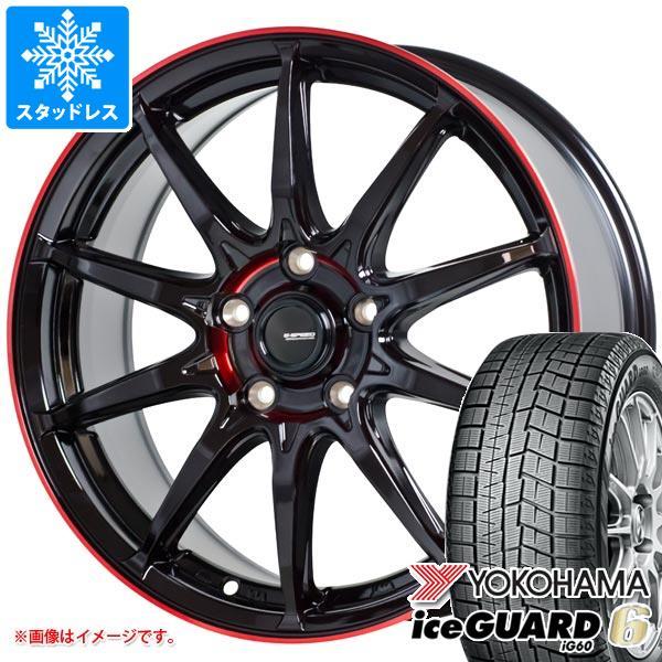 2020年製 スタッドレスタイヤ ヨコハマ アイスガードシックス iG60 185/65R15 88Q & ジースピード P-05R タイヤホイール4本セット 185/65-15 YOKOHAMA iceGUARD 6 iG60
