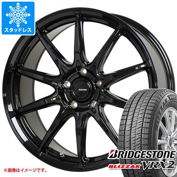 スタッドレスタイヤ ブリヂストン ブリザック VRX2 185/60R14 82Q & ジースピード G-05 5.5-14 タイヤホイール4本セット 185/60-14 BRIDGESTONE BLIZZAK VRX2