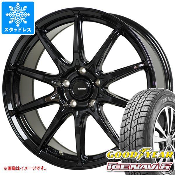 スタッドレスタイヤ グッドイヤー アイスナビ6 215/45R17 87Q & ジースピード G-05 7.0-17 タイヤホイール4本セット 215/45-17 GOODYEAR ICE NAVI 6