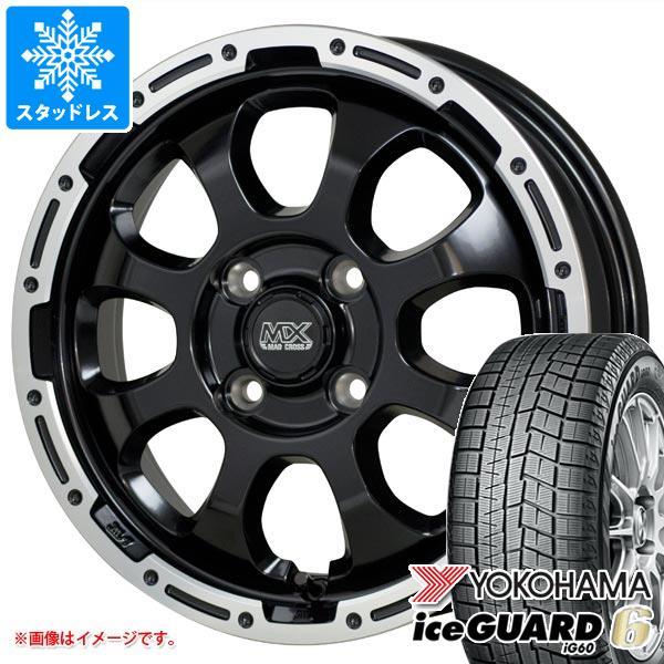 スタッドレスタイヤ ヨコハマ アイスガードシックス iG60 155/65R14 75Q & マッドクロスグレイス 4.5-14 タイヤホイール4本セット 155/65-14 YOKOHAMA iceGUARD 6 iG60