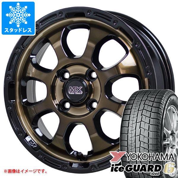 スタッドレスタイヤ ヨコハマ アイスガードシックス iG60 165/55R14 72Q & マッドクロスグレイス 4.5-14 タイヤホイール4本セット 165/55-14 YOKOHAMA iceGUARD 6 iG60