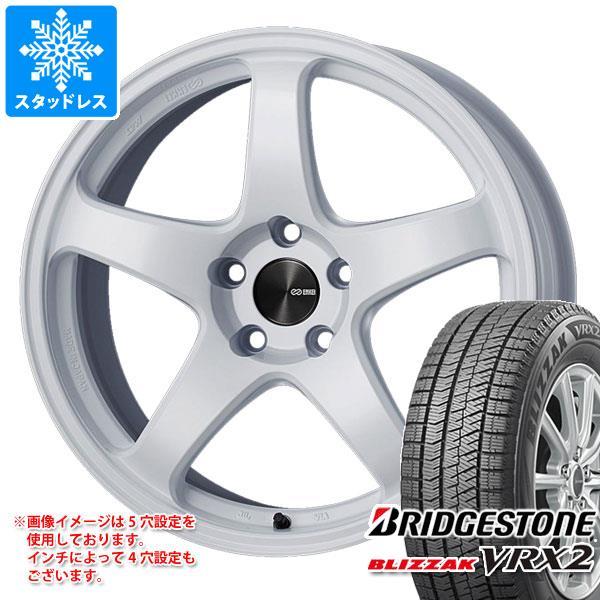 スタッドレスタイヤ ブリヂストン ブリザック VRX2 225 60R17 99Q & エンケイ フォーマンスライン PF05 8.0-17 タイヤホイール4本セット 225 60-17 BRIDGESTONE BLIZZAK VRX2