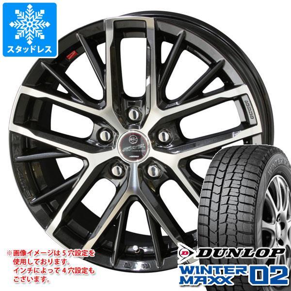 スタッドレスタイヤ ダンロップ ウインターマックス02 WM02 165/70R14 81Q & スマック レヴィラ 5.5-14 タイヤホイール4本セット 165/70-14 DUNLOP WINTER MAXX 02 WM02