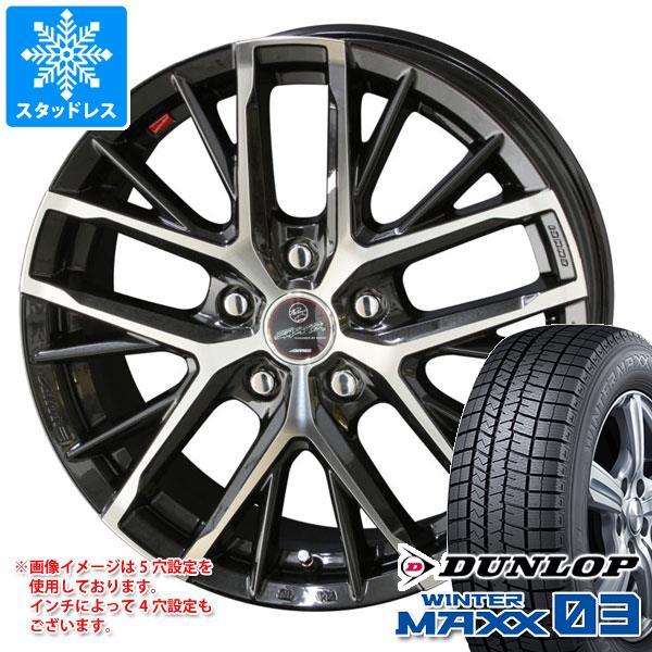 スタッドレスタイヤ ダンロップ ウインターマックス03 WM03 155/65R13 73Q & スマック レヴィラ 4.0-13 タイヤホイール4本セット 155/65-13 DUNLOP WINTER MAXX 03 WM03
