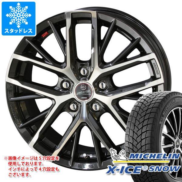 スタッドレスタイヤ ミシュラン エックスアイススノー 205/55R17 95T XL & スマック レヴィラ 7.0-17 タイヤホイール4本セット 205/55-17 MICHELIN X-ICE SNOW