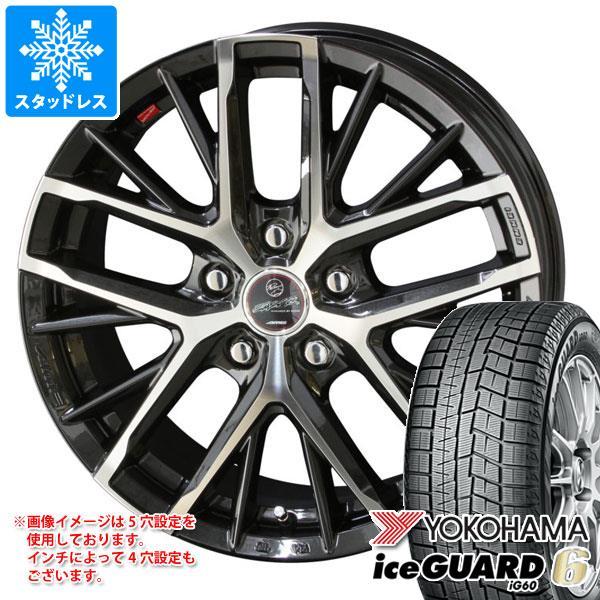 スタッドレスタイヤ ヨコハマ アイスガードシックス iG60 185/60R14 82Q & スマック レヴィラ 5.5-14 タイヤホイール4本セット 185/60-14 YOKOHAMA iceGUARD 6 iG60