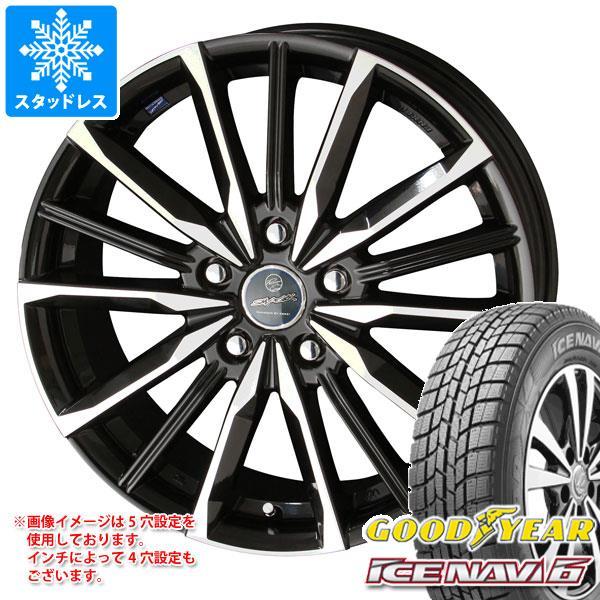 スタッドレスタイヤ グッドイヤー アイスナビ6 215/60R16 95Q & スマック ヴァルキリー 6.5-16 タイヤホイール4本セット 215/60-16 GOODYEAR ICE NAVI 6