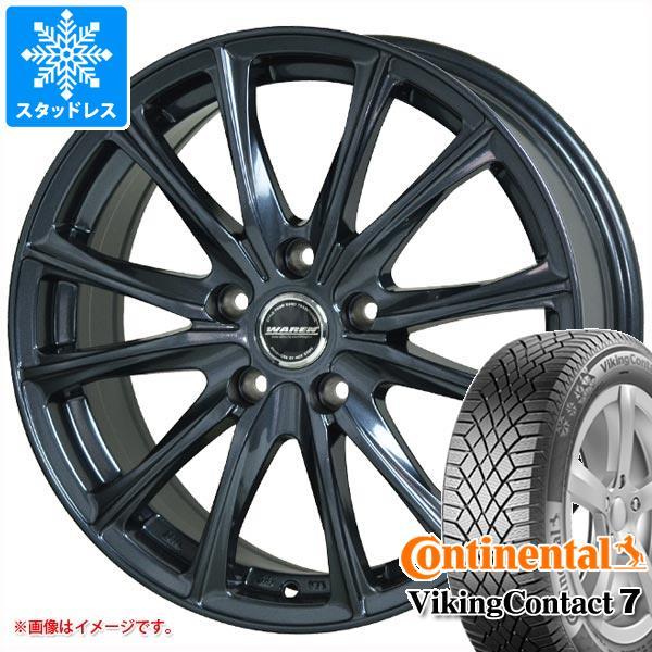 スタッドレスタイヤ コンチネンタル バイキングコンタクト7 245/45R18 100T XL & ヴァーレン W05 8.0-18 タイヤホイール4本セット 245/45-18 CONTINENTAL VikingContact 7