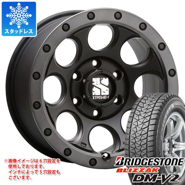 スタッドレスタイヤ ブリヂストン ブリザック DM-V2 225/65R17 102Q & エクストリームJ XJ03 7.5-17 タイヤホイール4本セット 225/65-17 BRIDGESTONE BLIZZAK DM-V2