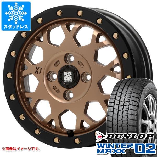 スタッドレスタイヤ ダンロップ ウインターマックス02 WM02 155/65R14 75Q & MLJ エクストリームJ XJ04 4.5-14 タイヤホイール4本セット 155/65-14 DUNLOP WINTER MAXX 02 WM02