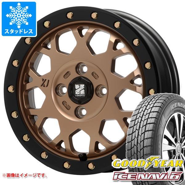 スタッドレスタイヤ グッドイヤー アイスナビ6 155/55R14 69Q & エクストリームJ XJ04 MB 軽カー専用 4.5-14 タイヤホイール4本セット 155/55-14 GOODYEAR ICE NAVI 6