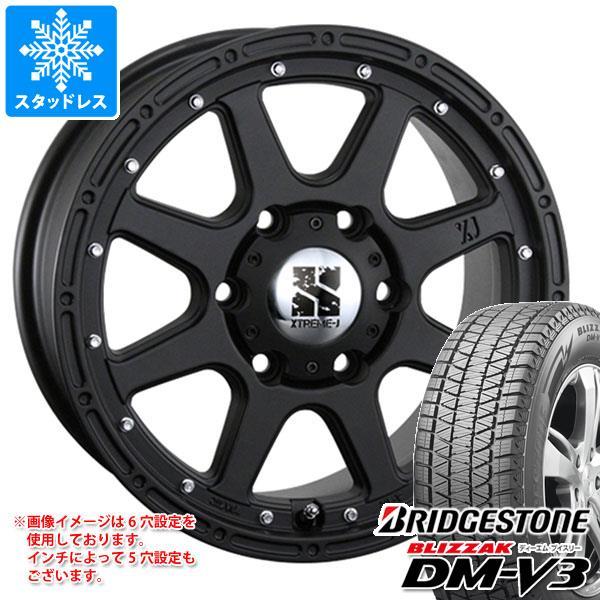 スタッドレスタイヤ ブリヂストン ブリザック DM-V3 265/60R18 110Q & エクストリームJ 8.0-18 タイヤホイール4本セット 265/60-18 BRIDGESTONE BLIZZAK DM-V3