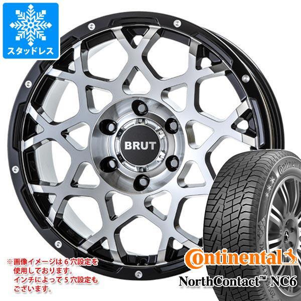 スタッドレスタイヤ コンチネンタル ノースコンタクト NC6 215/65R16 102T XL & ブルート BR-55 MMB 6.5-16 タイヤホイール4本セット 215/65-16 CONTINENTAL NorthContact NC6