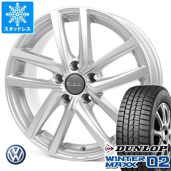 VW e-ゴルフ用 スタッドレス ダンロップ ウインターマックス02 WM02 205/55R16 91Q MAK ドレスデン タイヤホイール4本セット