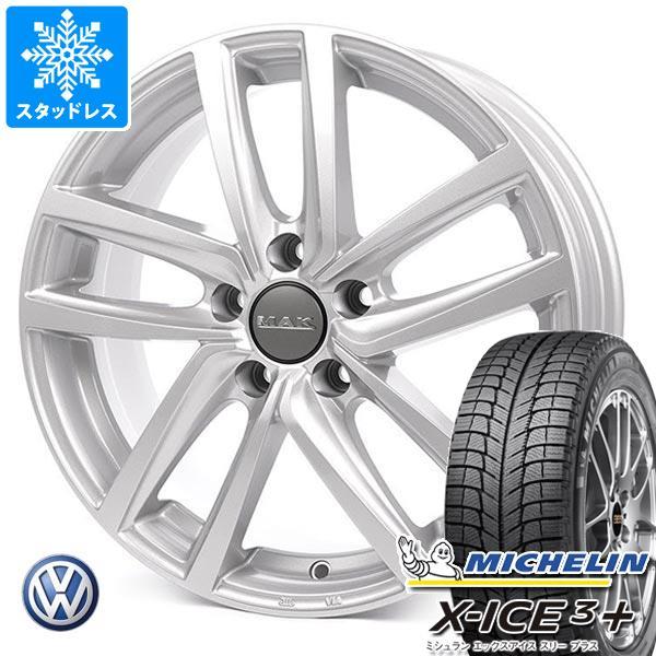 VW アルテオン 3HD系用 スタッドレス ミシュラン エックスアイス3プラス 245/45R18 100H XL MAK ドレスデン タイヤホイール4本セット
