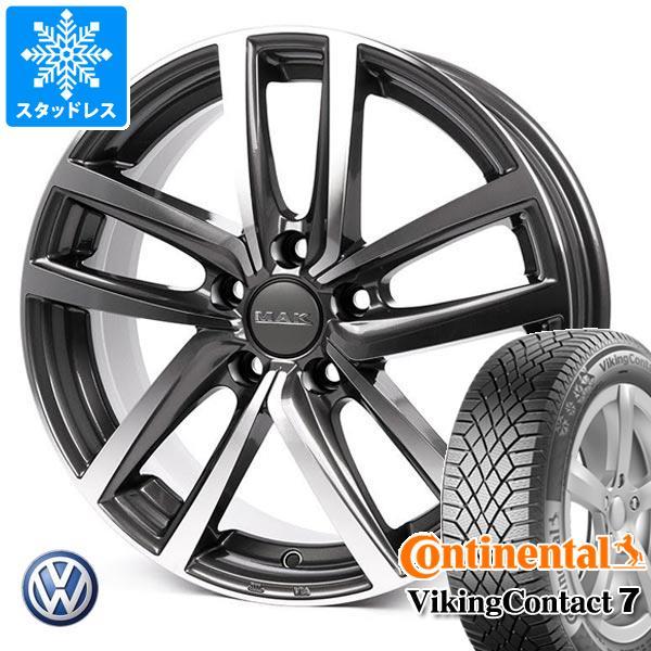 VW ポロ AWC系用 スタッドレス コンチネンタル バイキングコンタクト7 195 55R16 91T XL MAK ドレスデン タイヤホイール4本セット お買い得 お祝 販促品 ノベルティ