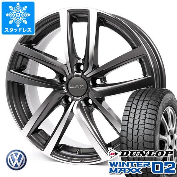 VW パサートオールトラック 3CD系用 スタッドレス ダンロップ ウインターマックス02 WM02 225/55R17 97Q MAK ドレスデン タイヤホイール4本セット