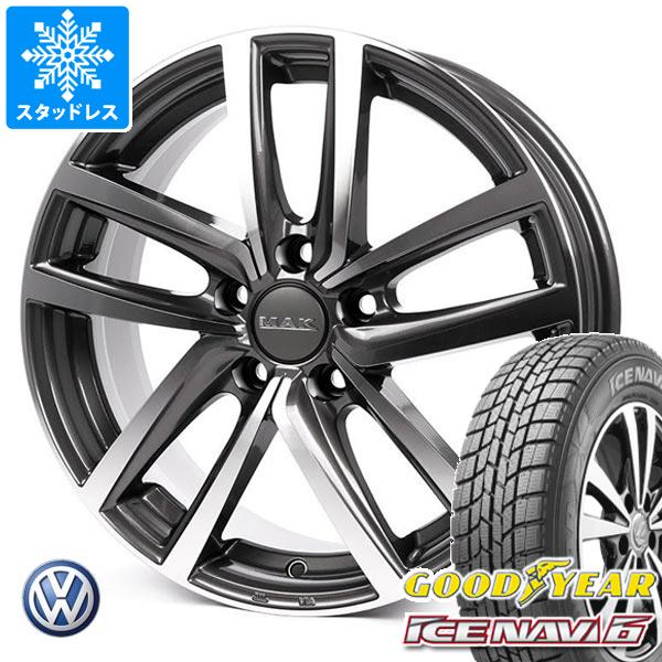 VW T-クロス C1DKR用 スタッドレス グッドイヤー アイスナビ6 205/65R15 94Q MAK ドレスデン タイヤホイール4本セット