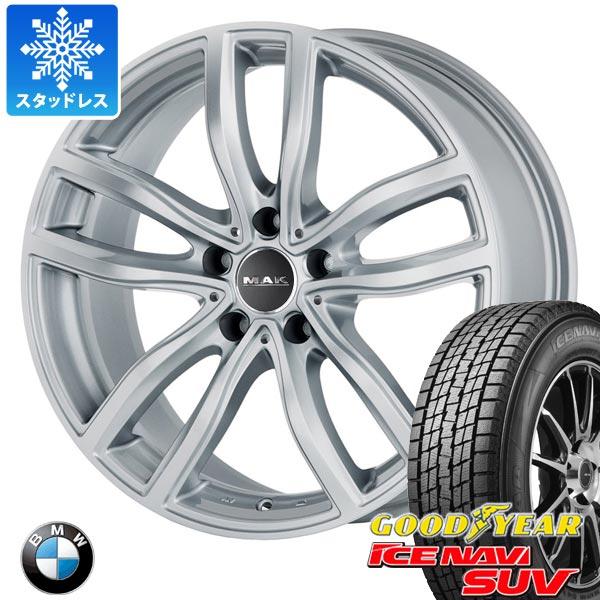 BMW E70 X5用 スタッドレス グッドイヤー アイスナビ SUV 255/55R18 109Q XL MAK ファー タイヤホイール4本セット
