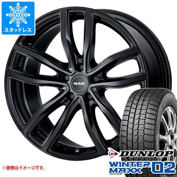 BMW G20 3シリーズ用 スタッドレス ダンロップ ウインターマックス02 WM02 225/45R18 91Q MAK ファー ブラック タイヤホイール4本セット