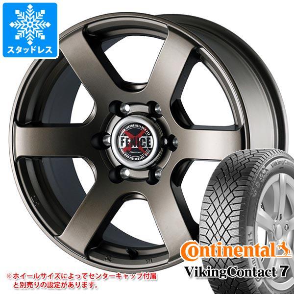 スタッドレスタイヤ コンチネンタル バイキングコンタクト7 235/65R17 108T XL & ドゥオール フェニーチェ クロス XC6 MBR 7.5-17 タイヤホイール4本セット 235/65-17 CONTINENTAL VikingContact 7