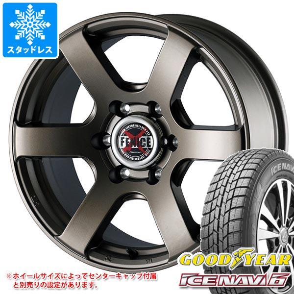 スタッドレスタイヤ グッドイヤー アイスナビ6 215/65R16 98Q & ドゥオール フェニーチェ クロス XC6 MBR 7.0-16 タイヤホイール4本セット 215/65-16 GOODYEAR ICE NAVI 6