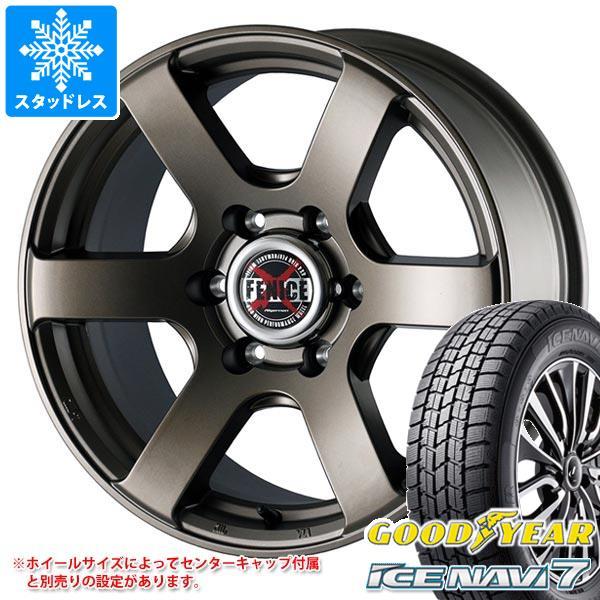 スタッドレスタイヤ グッドイヤー アイスナビ7 205/65R16 95Q & ドゥオール フェニーチェ クロス XC6 MBR 7.0-16 タイヤホイール4本セット 205/65-16 GOODYEAR ICE NAVI 7