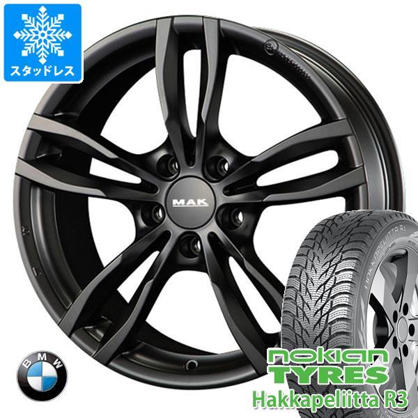 BMW F40 1シリーズ用 スタッドレス ノキアン ハッカペリッタ R3 205/55R16 94R XL MAK ルフト ブラック タイヤホイール4本セット