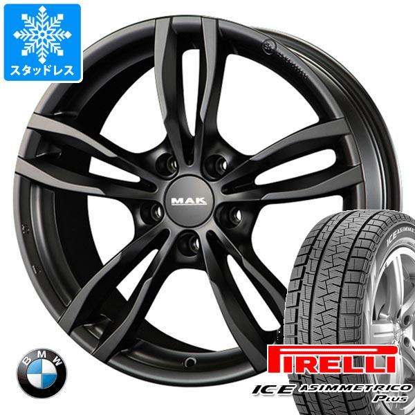 品質保証 BMW F32/F33 4シリーズ用 スタッドレス ピレリ アイスアシンメトリコ プラス 205/60R16 96Q XL MAK ルフト ブラック タイヤホイール4本セット, eフリーデン 4c20ceae