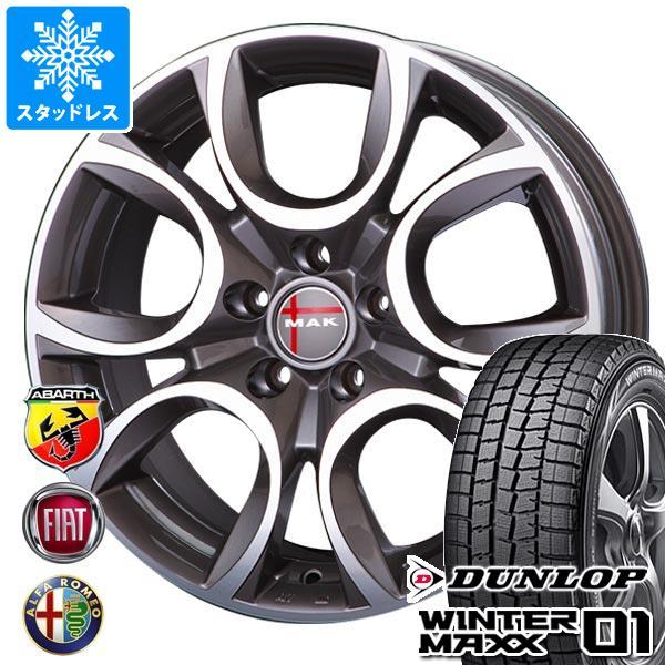 フィアット パンダ4x4 139系用 スタッドレス ダンロップ ウインターマックス01 WM01 175/65R15 84Q MAK トリノ GP タイヤホイール4本セット