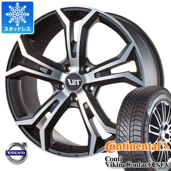 ボルボ XC60 UB/UD系用 スタッドレス コンチネンタル コンチバイキングコンタクト6 SUV 235/60R18 107T XL VST タイプPLS タイヤホイール4本セット