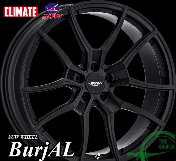 CLIMATE(クライメイト) SUW BurjAL(バージアル) 21×9.0J PCD114/5 +38 ハブ径:73.1φ カラー:6種類設定が在ります 注)ホイール1枚です