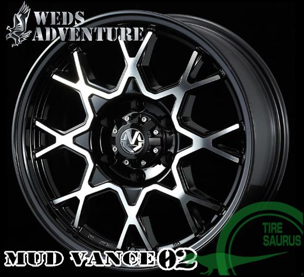 WEDS マッド ヴァンス02 18×8.0J PCD139/6H +20 ハブ径:106φ カラー:ブラックポリッシュ 【MUD VANCE 02】