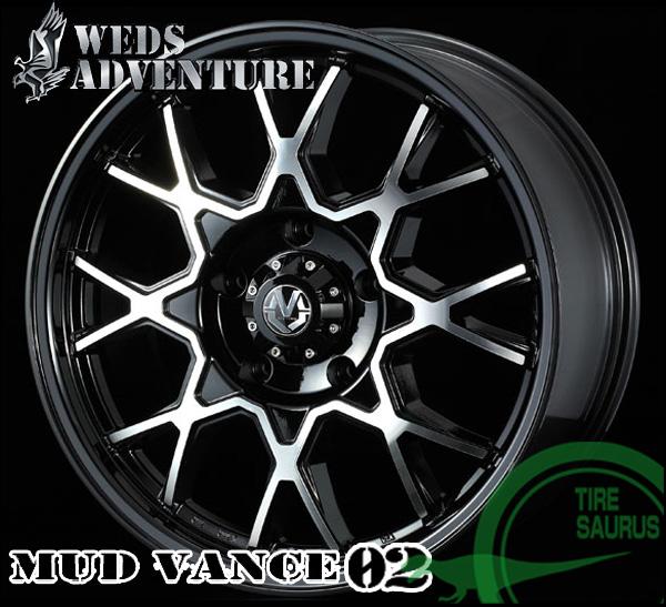 WEDS マッド ヴァンス02 20×9.5J PCD150/5H +55 ハブ径:110φ カラー:ブラックポリッシュ 【MUD VANCE 02】