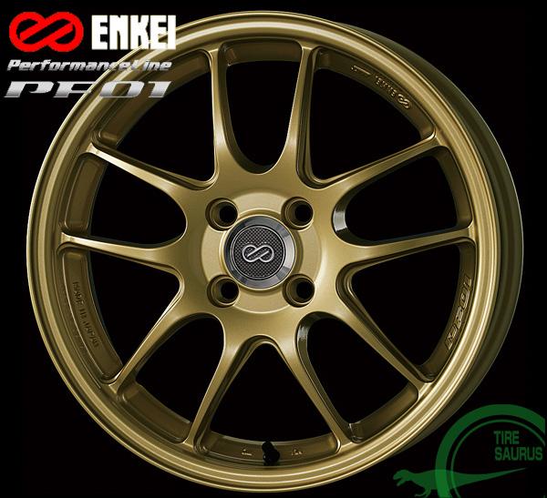 ENKEI エンケイ パフォーマンスライン PF0115インチ 5.0J PCD100/4H +45 カラー:ゴールドPerformanceLine PF01 ホイール1枚