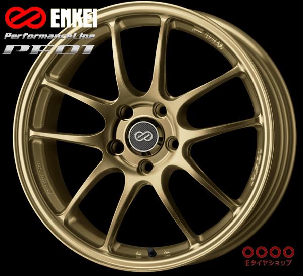 ENKEI エンケイ パフォーマンスライン PF0117インチ 7.0J PCD114/5H +48 カラー:ゴールドPerformanceLine PF01 ホイール1枚