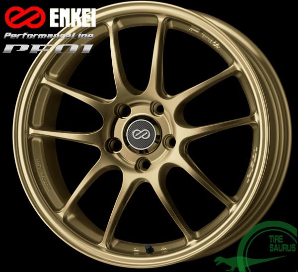 ENKEI エンケイ パフォーマンスライン PF0118インチ 7.5J PCD114/5H +45 カラー:ゴールドPerformanceLine PF01 ホイール1枚