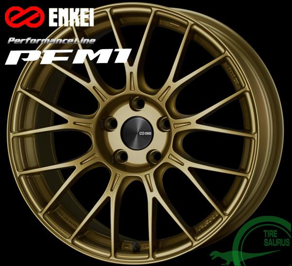 ENKEI エンケイ パフォーマンスライン PFM1 17インチ 8.0J PCD100/5 +48 カラー:ゴールド PerformanceLine PFM1 ホイール1枚