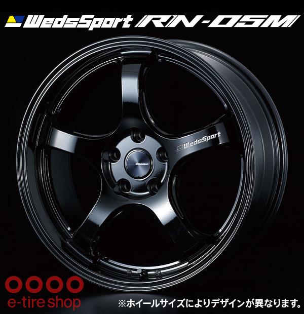 【要お取り寄せ】 WedsSport RN-05M 18×9.5J PCD114.3/5H +22 ハブ径:73 カラー:グロスブラック ※ホイール1枚価格です